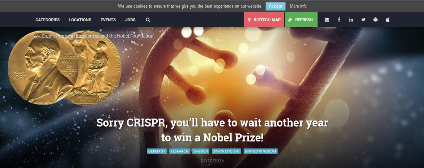 Sorry Nobel CRISPR